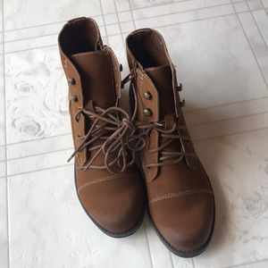 Madden Girl Lace Up Combat Boot